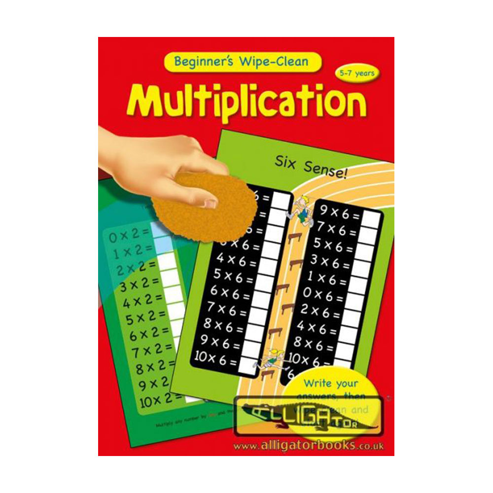 Multiplication, Beginners Maths Wipe Clean Books, Scrie si sterge! Inmultirea 5-7 ani! (367/BMWC1-3)